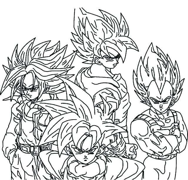 640x611 Coloring Dragon Ball Z All Characters In Dragon Ball Z Free
