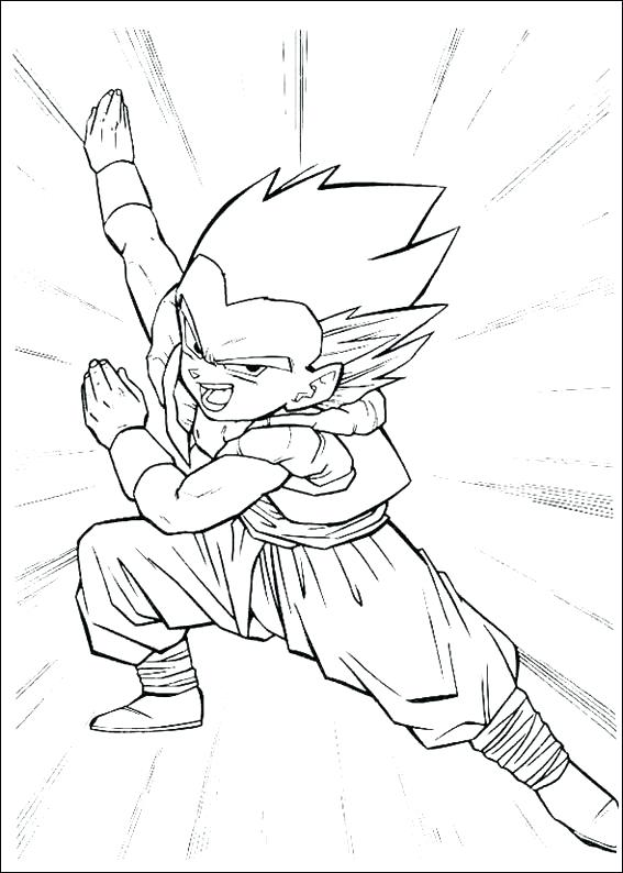 567x794 Dragon Ball Z Coloring Pages For Kids All Your Favorite Cartoon