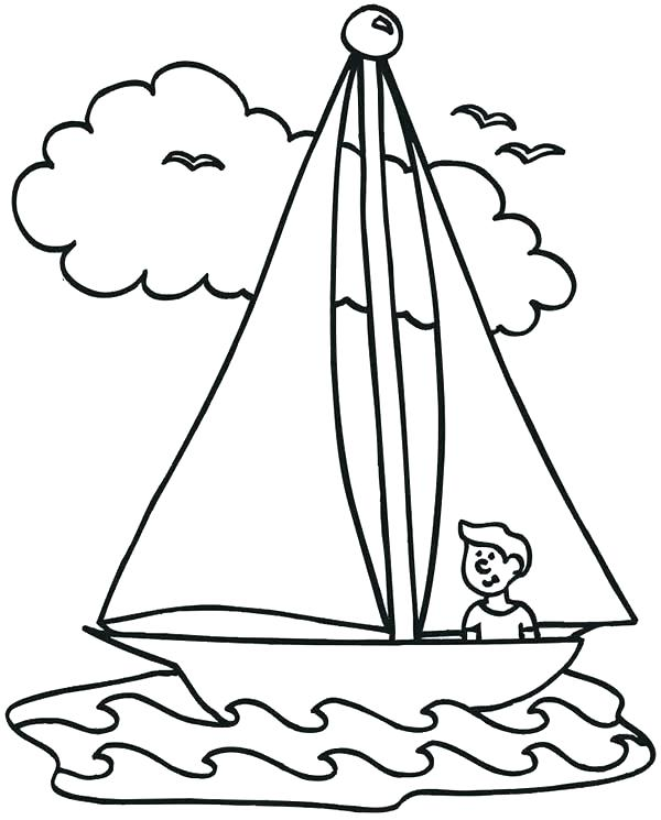 600x745 Boat Coloring Pages Chic And Creative Boat Coloring Pages