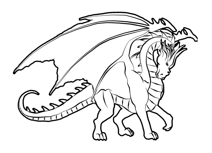 709x513 Free Dragon Coloring Pages