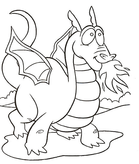 467x550 Cartoon Dragon Coloring Pages
