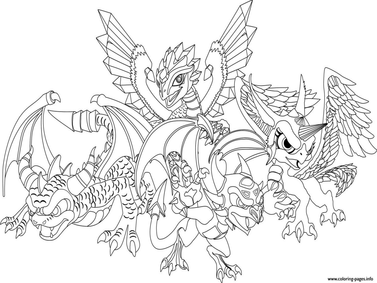 1280x960 Dragon City Coloring Pages