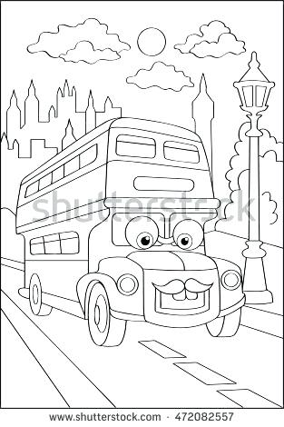 313x470 City Coloring Page Cute Hipster Car City Coloring Page Stock