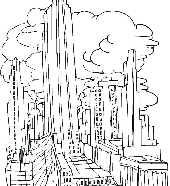 551x600 City Coloring Pages