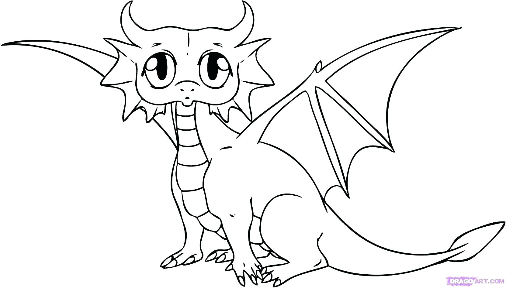 1664x948 Cute Baby Dragon Coloring Pages For Kids Printable Dragons
