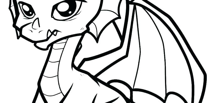 660x330 Baby Dragon Coloring Pages