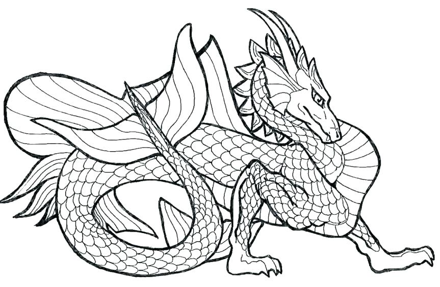 863x564 Coloring For Kids Free Printable Dragon Coloring Pages Fresh