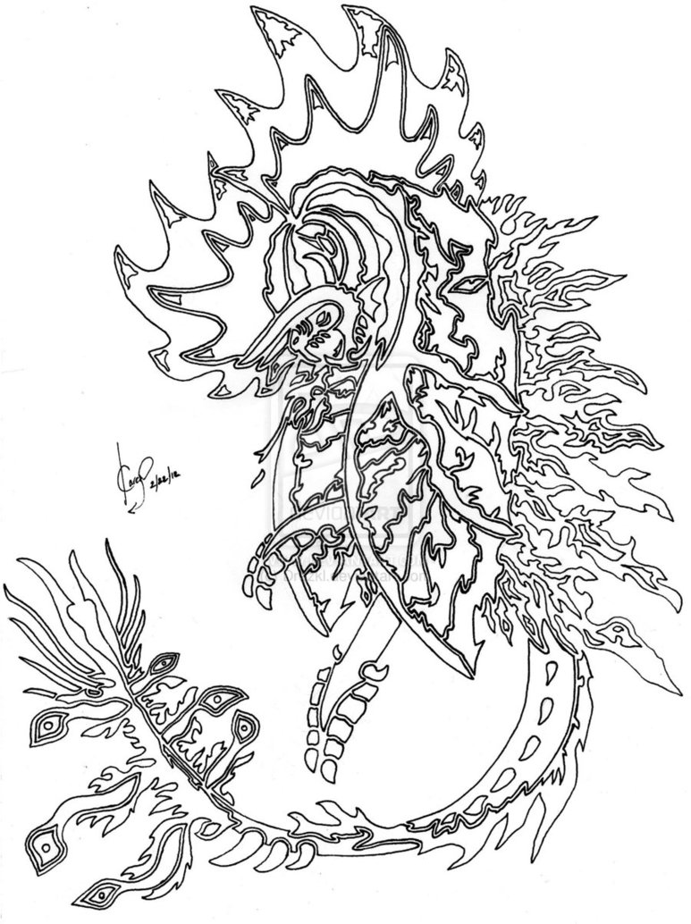 773x1034 Dragon Coloring Pages For Adults
