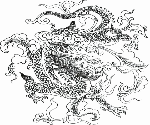 570x475 Free Dragon Coloring Pages Collection Dragon Coloring Pages