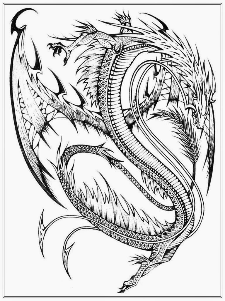 768x1024 Printable Dragon Coloring Pages For Adults Many Interesting