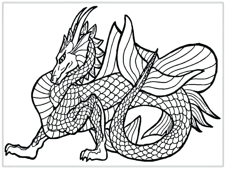 921x690 Printable Realistic Dragon Coloring Pages For Adults