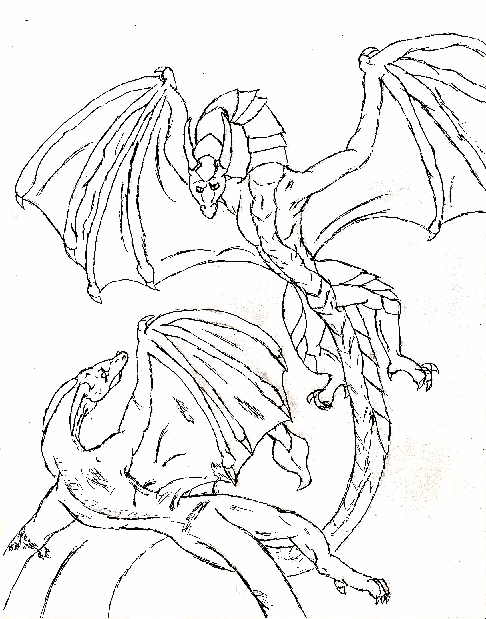 1700x2167 Dragon Coloring Pages For Adults