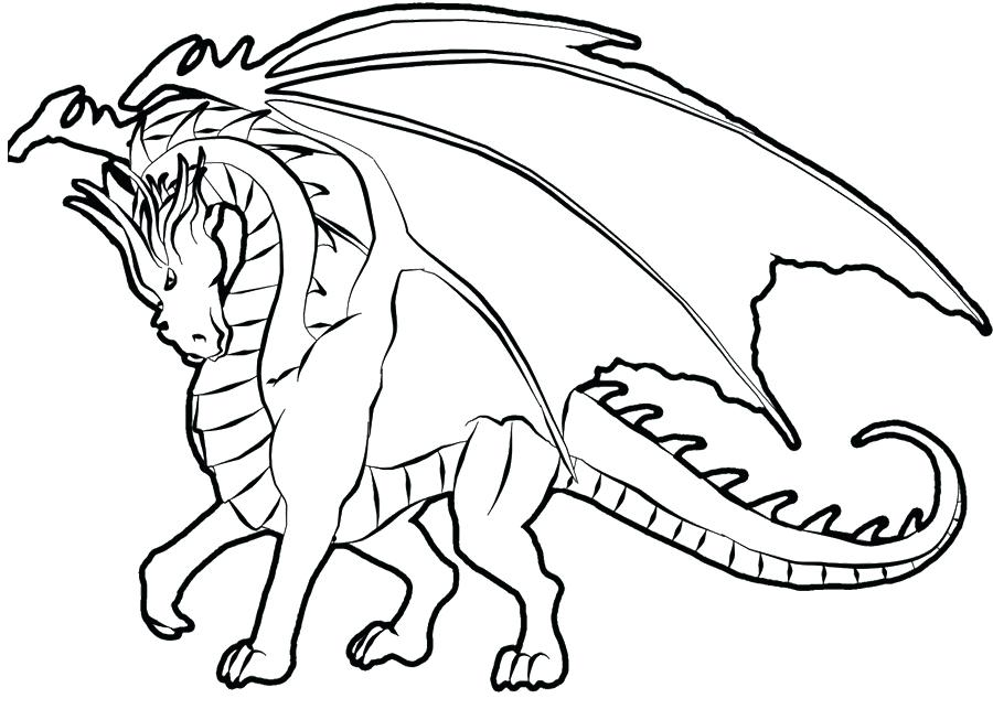 900x653 Dragon Coloring Page Dragon Coloring Pics Evil Dragon Coloring