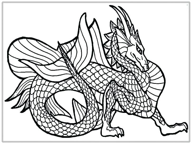728x546 Dragon Coloring Pages For Adults Dragon Color Pages Elegant