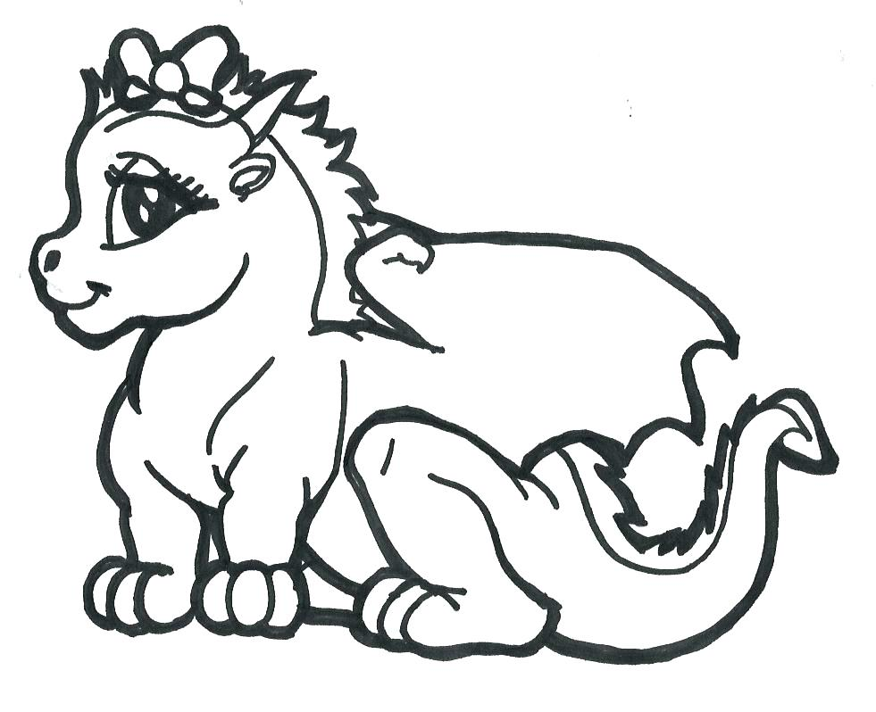981x798 Dragon Coloring Pages For Kids Dragon Coloring Pages A Coloring