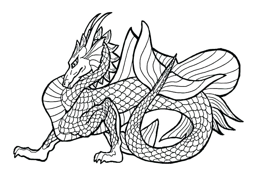 970x692 Dragon Coloring Pages Online Free Kids Coloring Greatest Scary