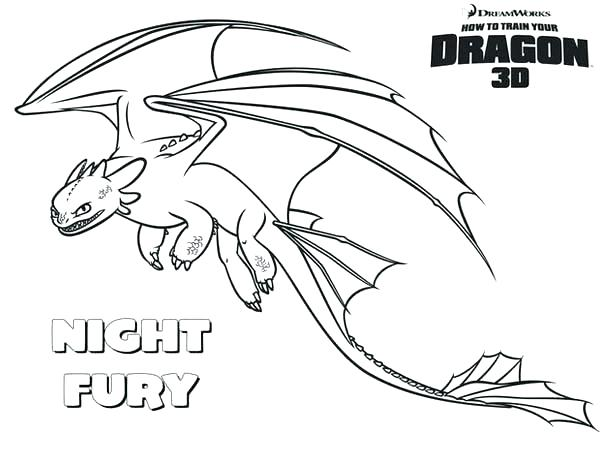 600x464 Dragon Coloring Page