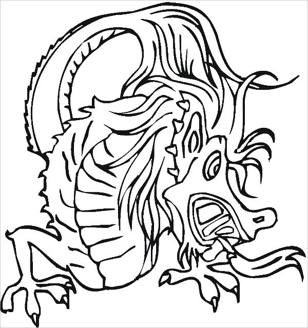 600x639 Dragon Coloring Pages