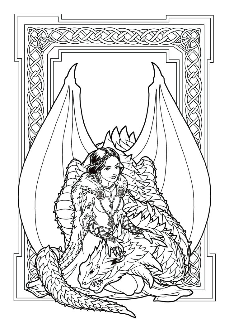 736x1039 Fresh Dragon Coloring Pages For Adults And Image Result For Free