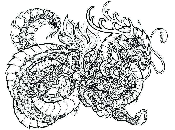 736x546 Dragon Coloring Book