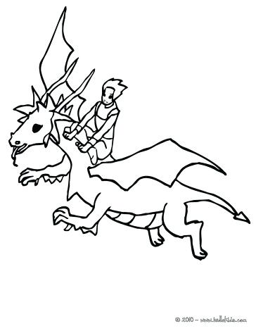 364x470 Dragon Coloring Page