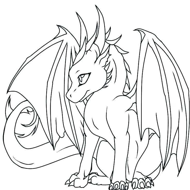 736x736 Dragon Coloring Page