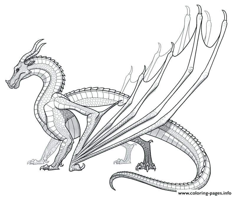800x668 Dragon Coloring Pages For Adults