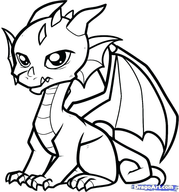 736x790 Dragon Coloring Sheets