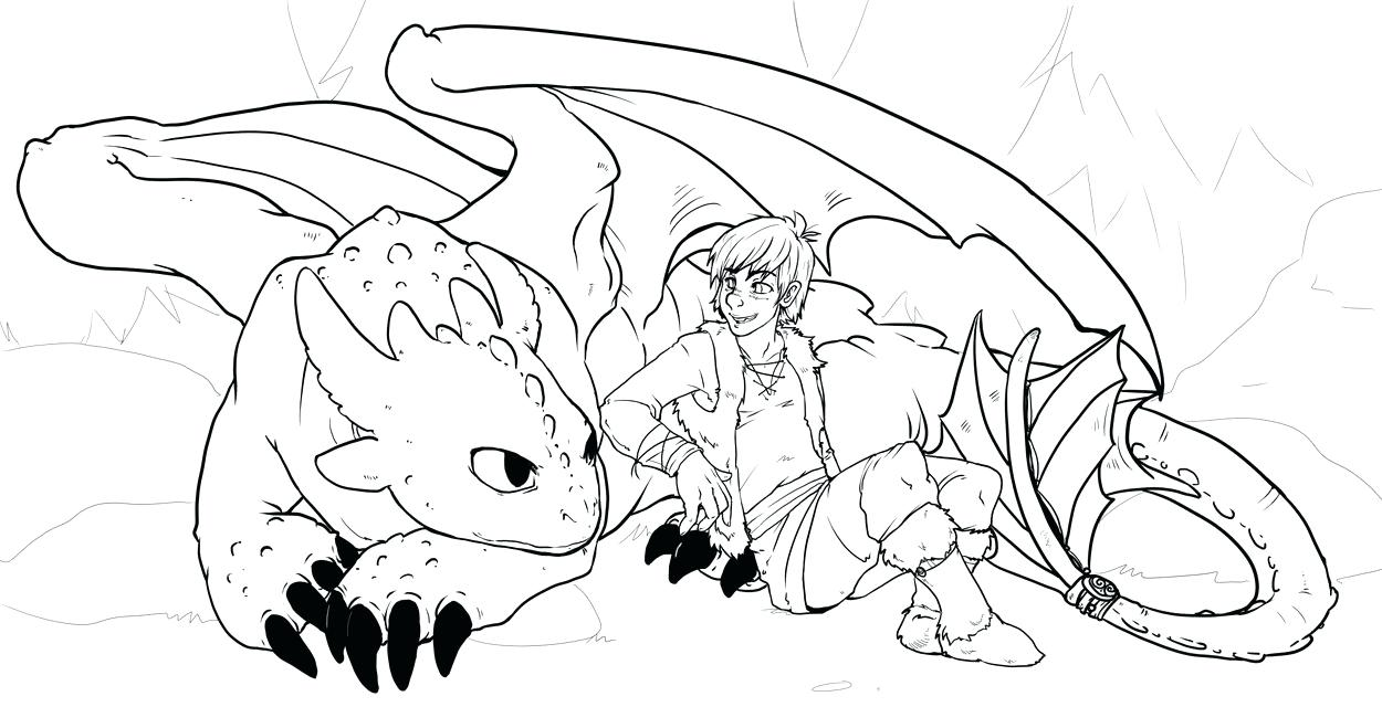 1250x640 Coloring Pages For Adults Pdf Dragon With A Boy Myth Animal