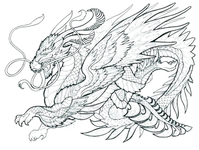 Dragon Coloring Pages Printables
