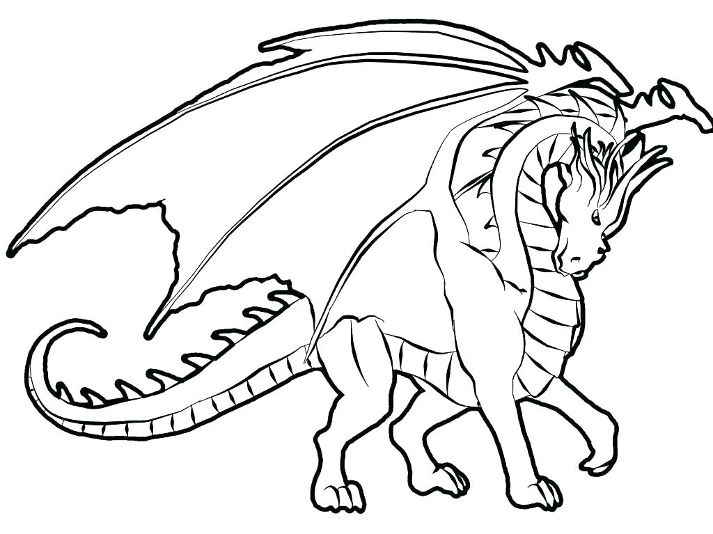 1024x767 Awesome Dragon Coloring Pages Detailed Dragon Coloring Pages