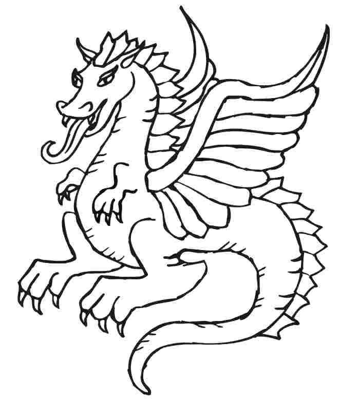 660x779 Free Printable Dragon Coloring Pages