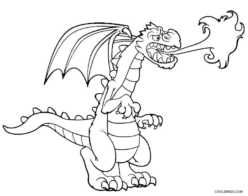 850x670 Printable Dragon Coloring Pages For Kids