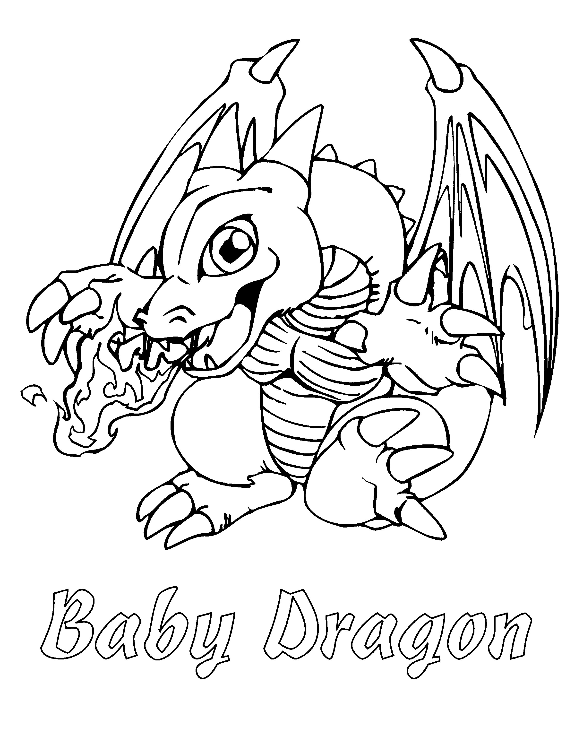 2400x3029 Baby Dragon Coloring Page Free Printable Pages For Kids
