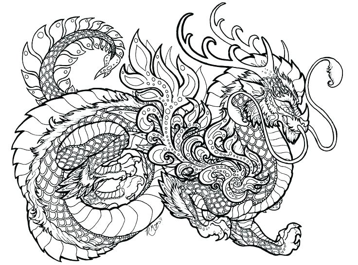 736x546 Dragon Coloring Pages Printable