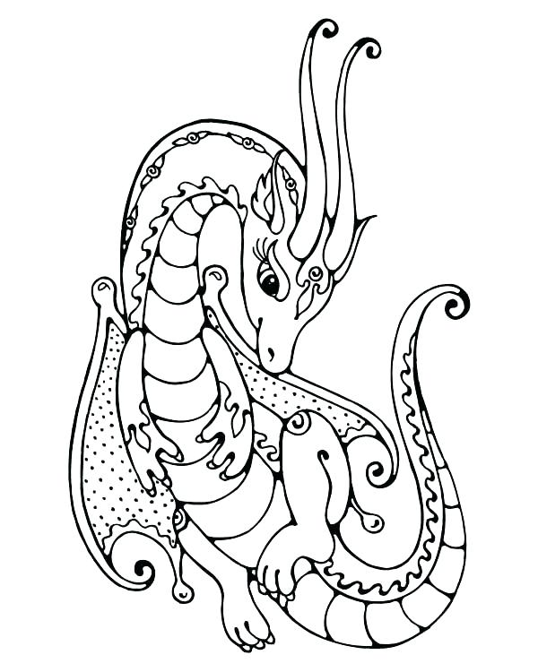 600x750 Dragon Coloring Pages Printable