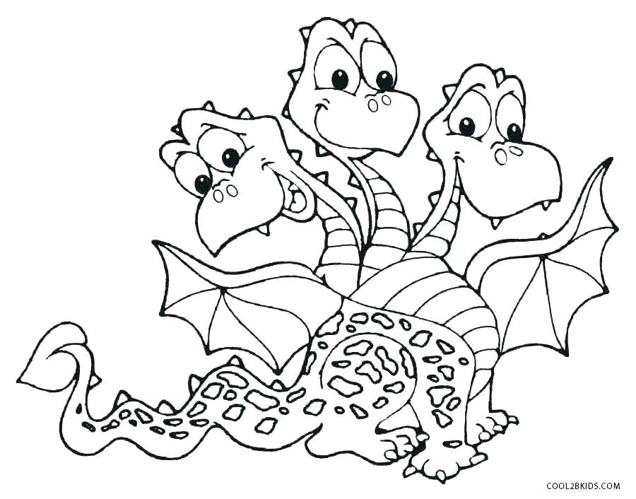 900x706 Free Printable Dragon Coloring Pages