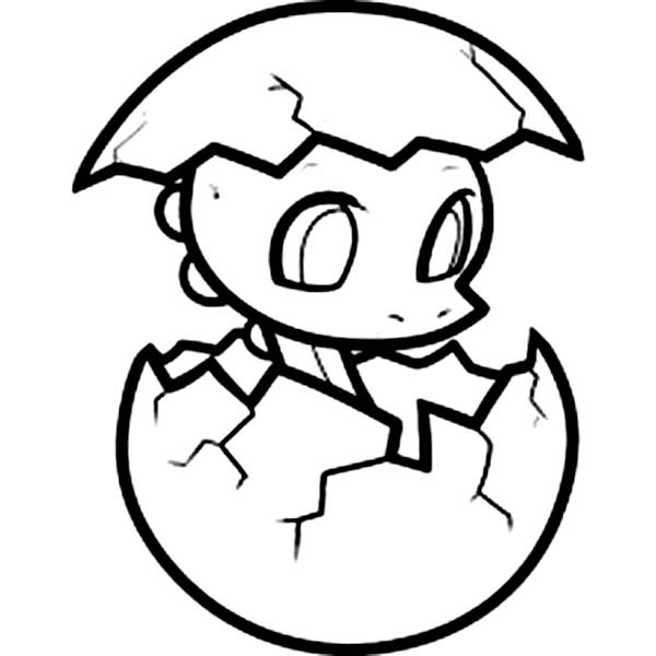 600x600 Baby Dragon Coloring Pages