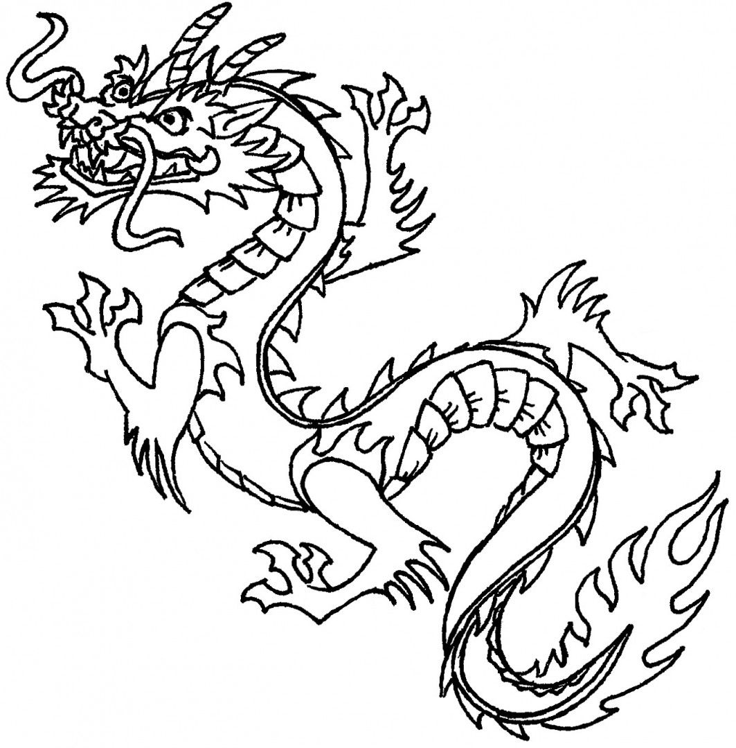 1063x1080 Dragon Coloring Pages Colorings