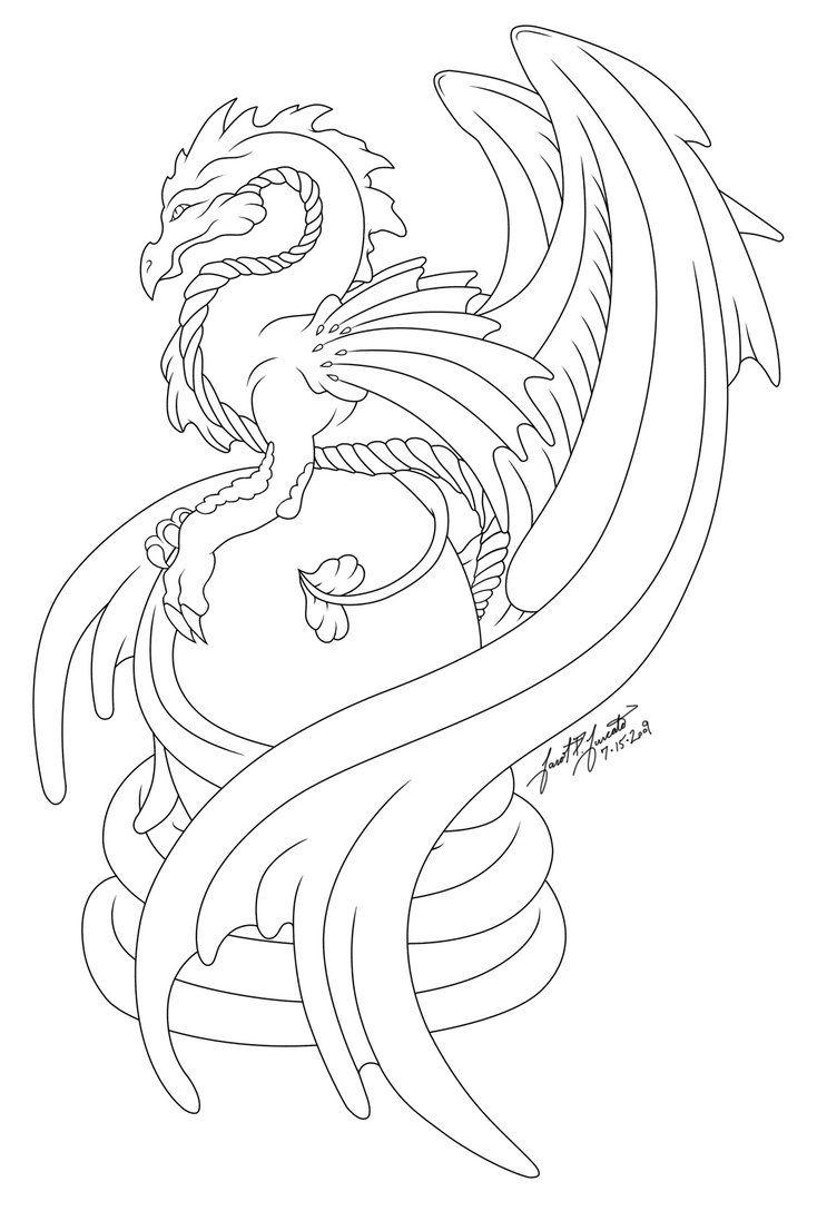 734x1088 Dragon's Egg Line Art