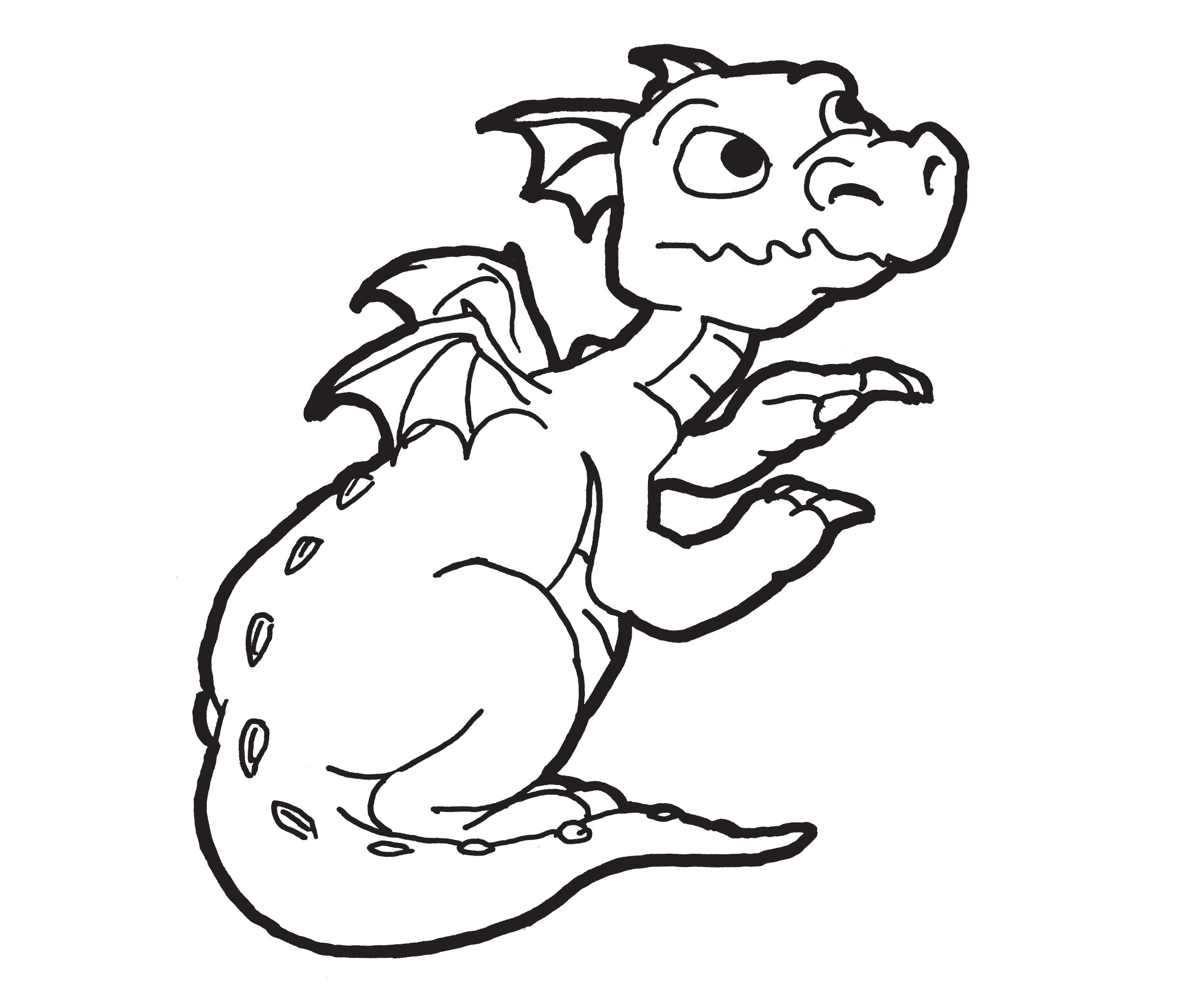 2400x2052 Dragon Head Coloring Page, European Dragon Head Coloring Page