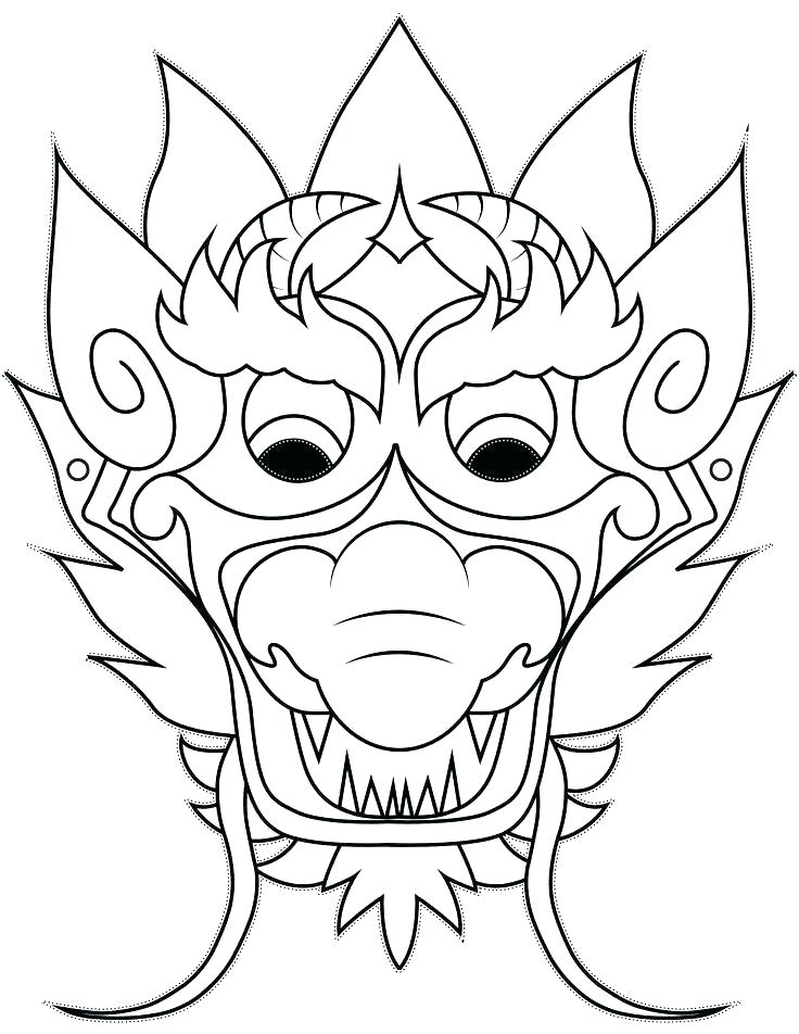 736x952 Chinese Dragon Head Coloring Page Dragon Coloring Pages Dragon