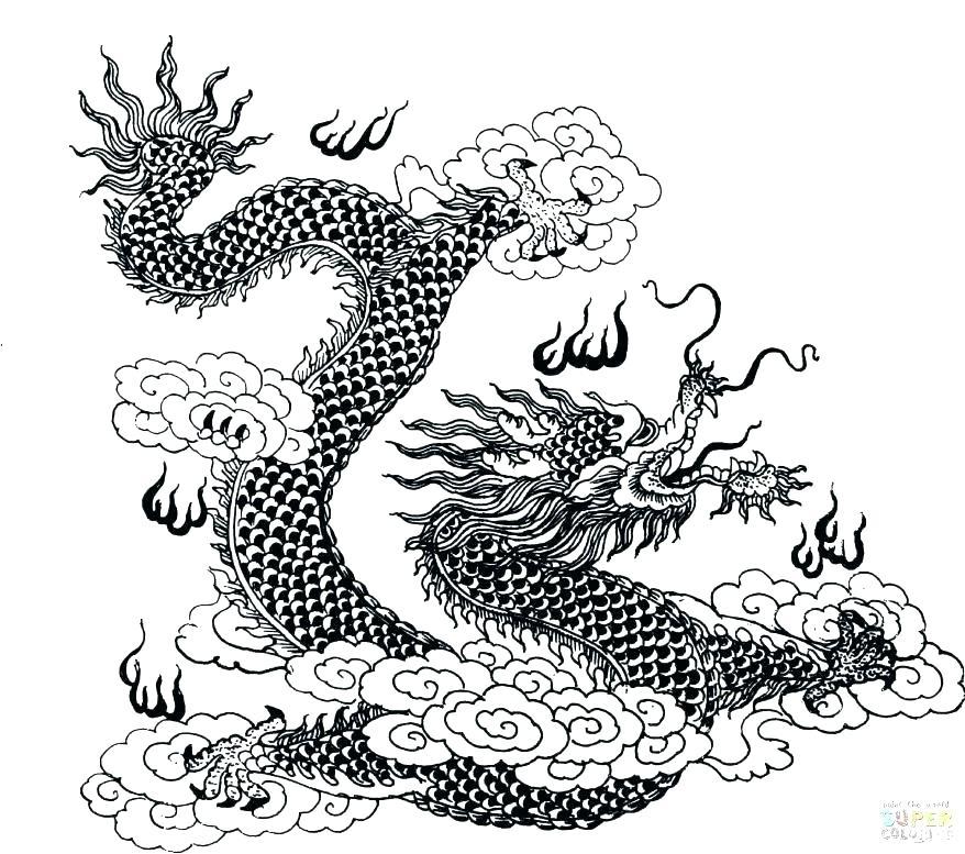 878x777 Chinese New Year Dragon Coloring Pages