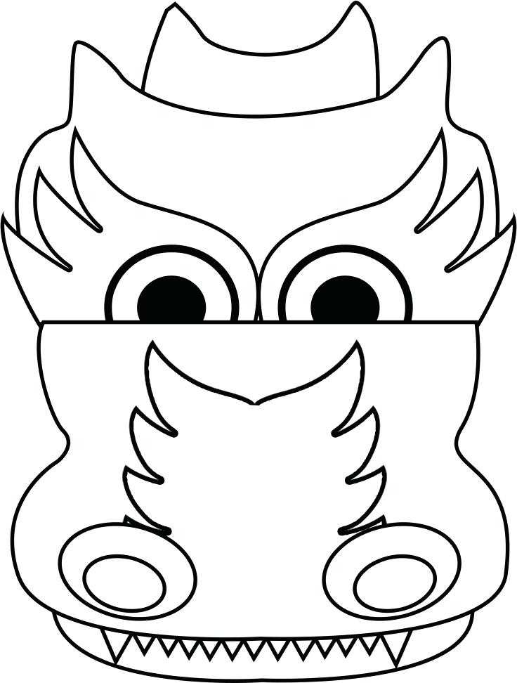 736x972 Chinese New Year Dragon Face Coloring Page Bear Pages Image Images