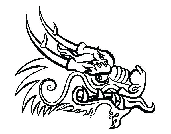 600x470 Dragon Face Coloring Page Chinese Dragon Face Coloring Page