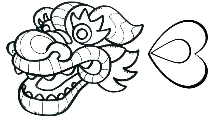 721x466 Dragon Head Coloring Page Dragon Head Coloring Page Dragon