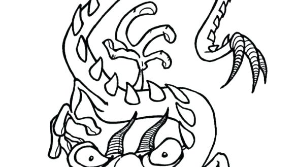 585x329 Coloring Page Dragon