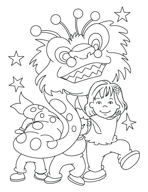 564x729 Dragon Face Coloring Page
