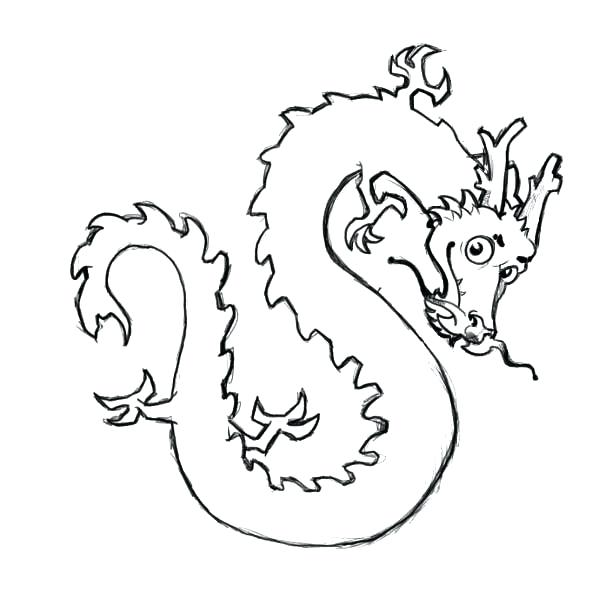 600x600 Chinese Dragon Coloring Pages Cute Dragon Coloring Pages Chinese