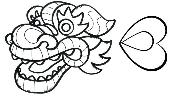 721x466 Dragon Head Coloring Page Dragon Head Coloring Page Dragon Face